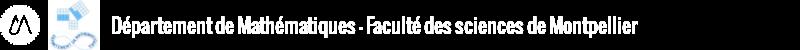 Département de mathématiques Logo
